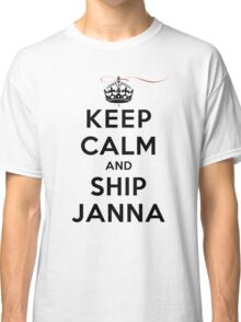 Keep Calm and SHIP Janna (Vampire Diaries) LS Classic T-Shirt