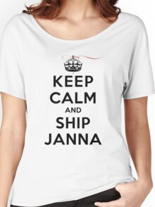 Keep Calm and SHIP Janna (Vampire Diaries) LS Women's Relaxed Fit T-Shirt