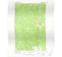 USGS Topo Map Washington State WA Orwig Hump 243010 1967 24000 Poster