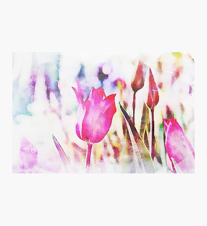 Abstract Watercolor Flower Photographic Print