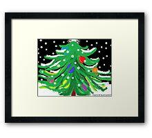 Oy, Tannenbaum! (A Christmas Card) Framed Print