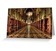 aisle of redemption  Greeting Card