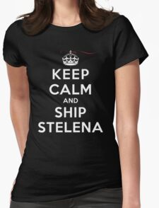Keep Calm and SHIP Stelena (Vampire Diaries) DS Womens Fitted T-Shirt