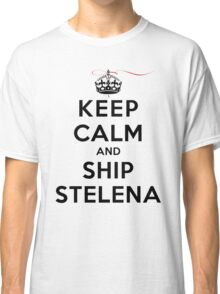 Keep Calm and SHIP Stelena (Vampire Diaries) LS Classic T-Shirt