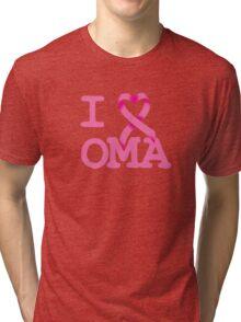 I Heart OMA - Breast Cancer Awareness Tri-blend T-Shirt