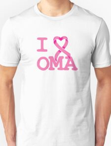 I Heart OMA - Breast Cancer Awareness Unisex T-Shirt