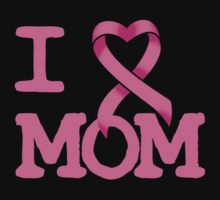 I Heart MOM - Breast Cancer Awareness One Piece - Short Sleeve
