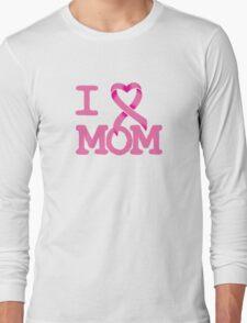 I Heart MOM - Breast Cancer Awareness Long Sleeve T-Shirt