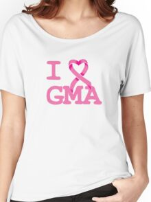 I Heart GMA - Breast Cancer Awareness Women's Relaxed Fit T-Shirt
