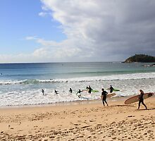 Manly Beach, Australia by Michelle Lia