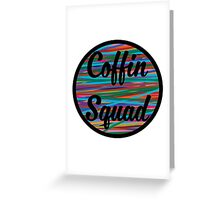 Coffin Squad Labelled Greeting Card
