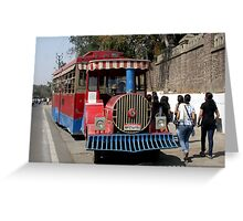 Tractor train Greeting Card