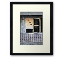 A Window on Cambodian Framed Print