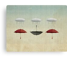 the black umbrella Canvas Print