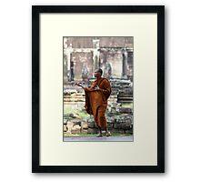 Angkor Wat Monk Framed Print
