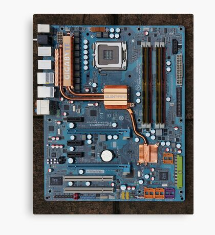 Computer Mother Board Canvas Print