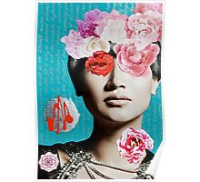 Rose Berry Splash Poster