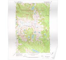 USGS Topo Map Washington State WA Mount Daniel 242488 1965 24000 Poster