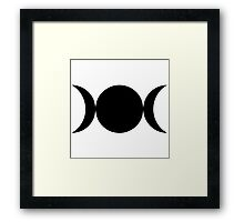 wicca moon magic  Framed Print