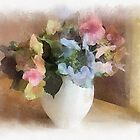 Painted Hydrangea's by Irene  Burdell