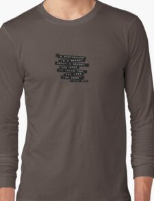 A Photograph Is A Secret Embossed Labels Long Sleeve T-Shirt