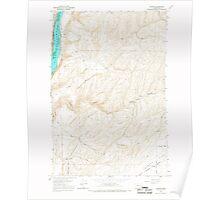 USGS Topo Map Washington State WA Elwood 241047 1966 24000 Poster