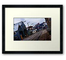 Railway Yards, Launceston Tasmania Framed Print