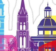 Athens OH skyline pop Sticker