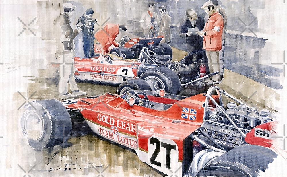 Lotus 49 B Lotus 72  by Yuriy Shevchuk