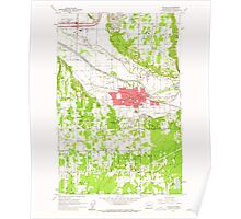 USGS Topo Map Washington State WA Puyallup 243325 1961 24000 Poster