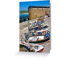 Sennen Cove Fishing Fleet Greeting Card
