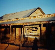 The Royal Hotel Ruins. Birdsville, Central West Queensland, Australia. by Ralph de Zilva