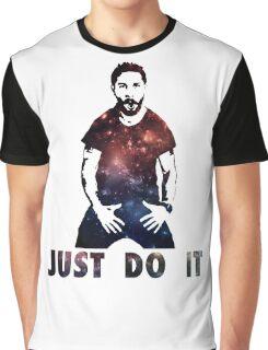 Just Do It Shia Labeouf Galaxy Graphic T-Shirt