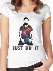 Just Do It Shia Labeouf Galaxy Women's Fitted Scoop T-Shirt