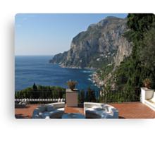 Island Capri - A Nice Terrace View Canvas Print