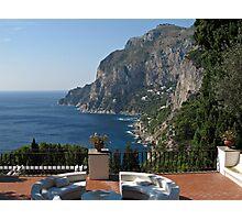 Island Capri - A Nice Terrace View Photographic Print