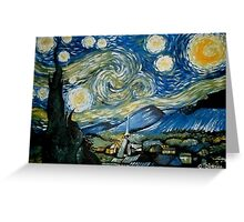 Reproduction of Starry Night Greeting Card