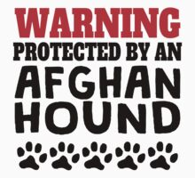 Protected By An Afghan Hound Kids Tee