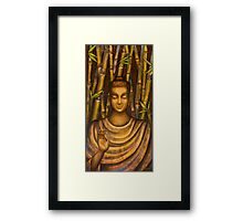 Stillness speaks. Framed Print