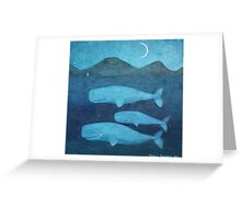Whale family Greeting Card