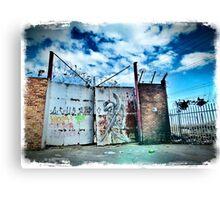 Gated Grunge Canvas Print