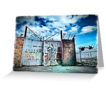 Gated Grunge Greeting Card