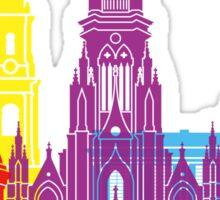 Bogota skyline pop Sticker