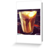 Cafe - coffee - latte Greeting Card