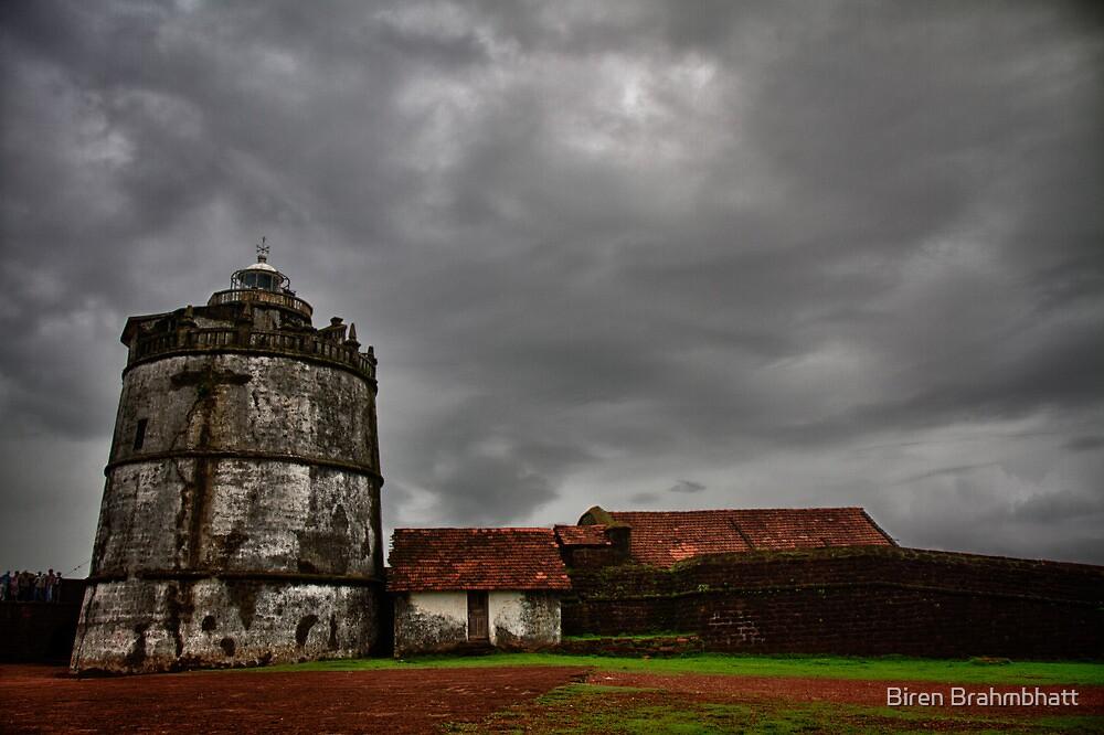 Old Light-house at Fort Aguada, Goa, India by Biren Brahmbhatt