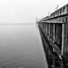 Pier in the Fog - Geelong Victoria by Graeme Buckland