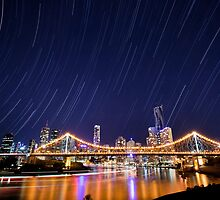 Brisbane City Star Trails by Matt Gray