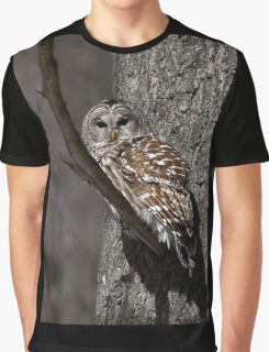 Barred Owl - Low, Quebec Graphic T-Shirt