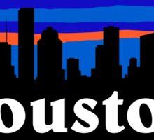 Houston Texas, skyline silhouette Sticker