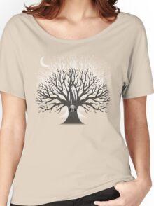 MOONLIGHT OWL Women's Relaxed Fit T-Shirt